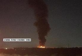ویدئو | جزییاتی از آتشسوزی در کارخانه لبنیات میهن