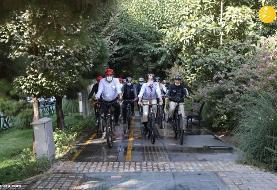 (تصاویر) دوچرخه سواری شهردار تهران با سفرای خارجی