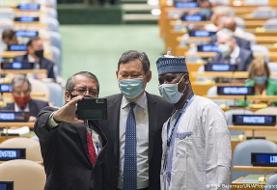 مکرون در سازمان ملل: آمریکا در موقعیتی نیست که بتواند مکانیسم ماشه را فعال کند