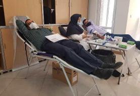 اهداء خون در بیمه پاسارگاد همزمان با روزهای کرونایی