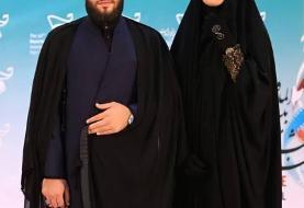 (عکس) الهام چرخنده و همسرش سید محمد درویشی