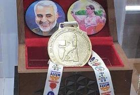محمدجواد ابراهیمی مدال خود را به شهدا تقدیم میکند