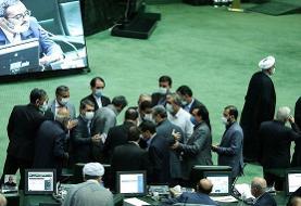 حاشیه در مجلس / تسنیم: رزم حسینی، وزیر پیشنهادی صنعت با اعتراض نمایندگان، جلسه علنی را ترک کرد