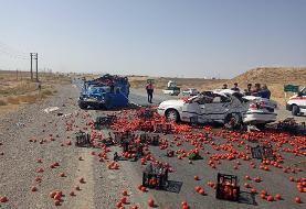 ۳ کشته در تصادف جاده قدیم ساوه-همدان (+عکس)