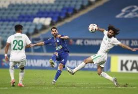 پیروزی ۲ گله استقلال مقابل الاهلی در نیمه اول