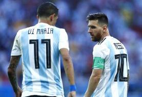 ناراحتی دی ماریا از دعوت نشدن به تیم ملی