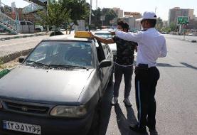 جمعآوری تابلوهای غیر مجاز آژانس از روی سقف خودروهای شخصی