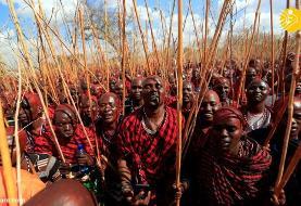 (تصاویر) مراسم جشن ارتقاء درجه جنگجویان قبیله ماسایی