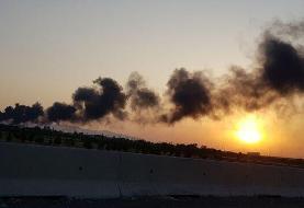 آتش سوزی گسترده در کارخانه مواد شیمیایی اشتهارد