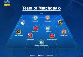 هشت ایرانی، تیم منتخب هفته آخر لیگ آسیا را قبضه کردند