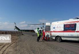 مرگ راننده پراید در تصادف با کامیون در شاهرود/انتقال ۲ زن مصدوم با بالگرد