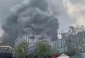 ببینید | آتش سوزی گسترده در آزمایشگاه بزرگ هواوی