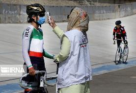 (تصاویر) مسابقات لیگ برتر دوچرخهسواری پیست سرعت بانوان