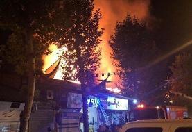 آتشسوزی گسترده بازار فومن مهار شد