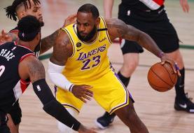 لیکرز نخستین فینالیست NBA/ لبران تریپل دبل کرد