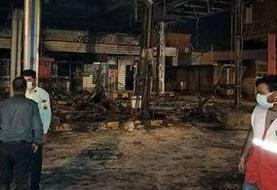 یکی از فوتیهای آتشسوزی پمپبنزین تاکستان زنده شد | افزایش آمار مصدومان
