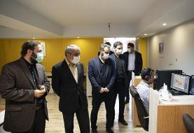بازدید کدخدایی (سخنگوی شورای نگهبان) از مراحل ساخت مجموعه تلویزیونی
