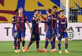 پیروزی پر گل بارسلونا در نخستین بازیاش در لالیگا