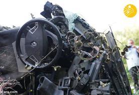 (تصاویر) تصادف شدید اتوبوس با کامیون در کالینینگراد
