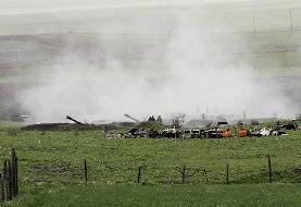 برخورد ۲ راکت دیگر به ایران در جریان تبادل آتش میان جمهوری آذربایجان و ارمنستان