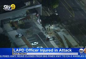 Officer pistol-whipped with his own gun inside a Los Angeles police station, cops say