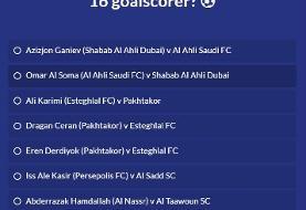 گل کریمی و آل کثیر نامزد بهترین گل مرحله یک هشتم نهایی لیگ قهرمانان آسیا/عکس