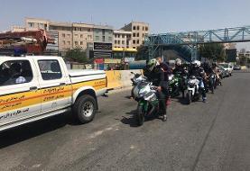 رژه موتورسواران از تهران تا نمک آبرود