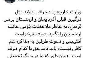 مطهری: ایران در بحران قرهباغ طرف حق را بگیرد