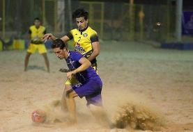 دور نهایی لیگ فوتبال ساحلی در سمنان آغاز شد/بوشهر پیروز گام نخست