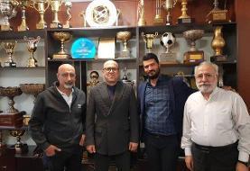 خداحافظی سعادتمند با کارکنان باشگاه استقلال