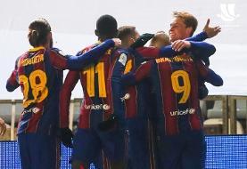 (ویدیو) خلاصه بازی رئال سوسیداد ۱ (۲) - (۳) ۱ بارسلونا ۲۴ دی ۹۹