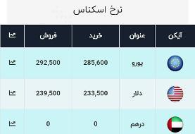 آخرین قیمت ارز، امروز ۲۵ دی ۹۹: دلار به ۲۳۹۵۰ تومان رسید