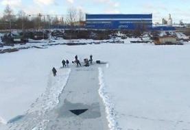 تفریح روی سد یخزده طزرجان ۲ جوان را به کشتن داد