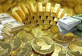 ریزش قیمت سکه و طلا