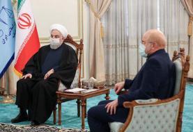 واکنش به توهین قالیباف به روحانی از تریبون باز مجلس /توهین شاخ و دم ندارد