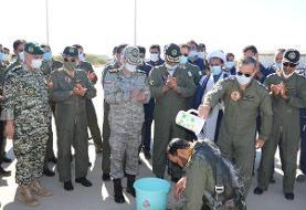 مراسم سولو خلبانان پایگاه شکاری شهیدان دلحامد چابهار برگزار شد