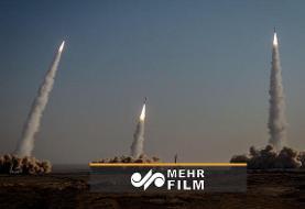 شلیک موشکهای بالستیک سپاه به عمق اقیانوس هند