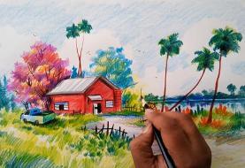 آشنایی با ناشنوایی که با نقاشی روستا معروف شد