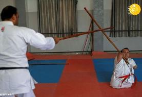 (تصاویر) کاراته باز بی دست و پا!