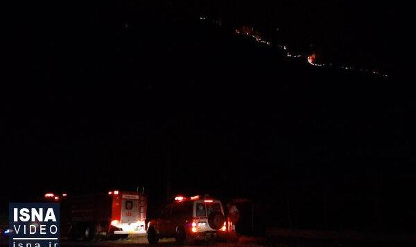 ویدئو / تداوم آتشسوزی در جنگلهای مرزی جمهوری آذربایجان و گیلان