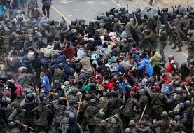 کاروان مهاجران به سمت آمریکا؛ گواتمالا راه را بر هزاران نفر مسدود کرده است