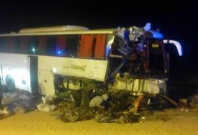 یک کشته و ۲۲ زخمی در تصادف غولهای آهنین محور دامغان-سمنان