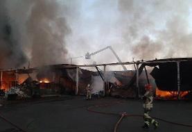 آتشسوزی خیابان شوش مهار شد | حادثه تلفات جانی نداشت