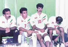 منصوریان و دایی؛ ۲۵ سال قبل/عکس