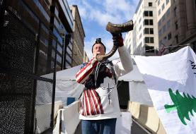 NBA player turned conspiracy theorist stages one-man pro-Trump protest amid inaugural security ...