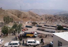 صادرات به عراق در مرز شیخ صله کرمانشاه از سرگرفته شد