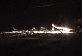 اجرای عملیات هلی برن و انهدام اهداف ثابت و متحرک در شب توسط بالگردهای هوانیروز
