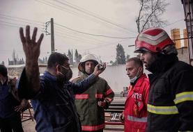 مهار آتش سوزی در مجتمع تجاری در ساری