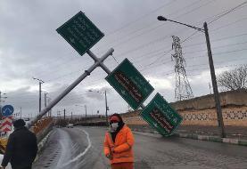 طوفان در مشهد بیش از ١١٠ حادثه را رقم زد