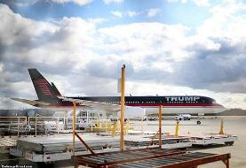 هواپیمای شخصی ترامپ فعلاً نمی پرد (+عکس)
